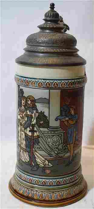 Mettlach Tankard # 2391. Castle Mark. C. 1901