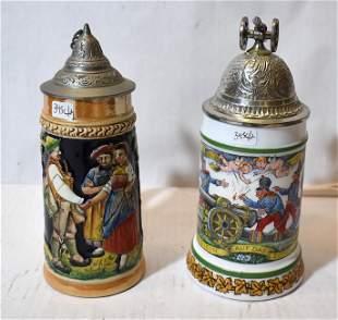German Steins (2) inc. Bierseidel
