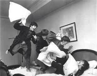 The Beatles Pillow Fight Harry Benson Photo
