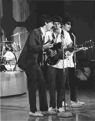 The Beatles Ed Sullivan Show Harry Benson Photo