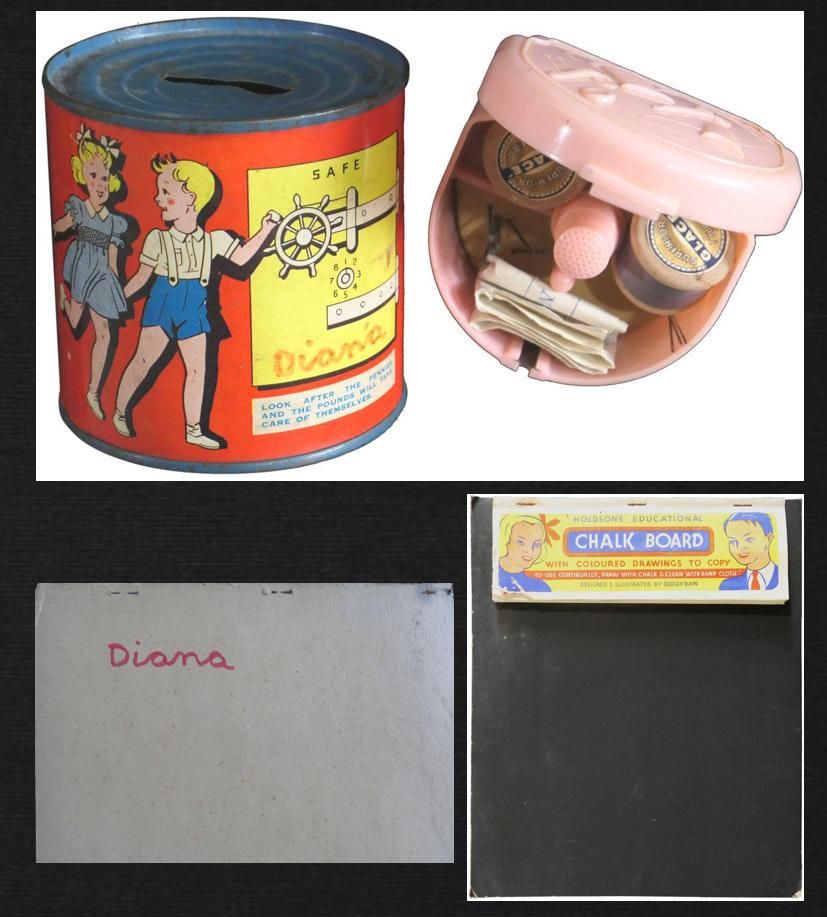 Princess Diana Personal Owned Moneybox Sewing Kit &