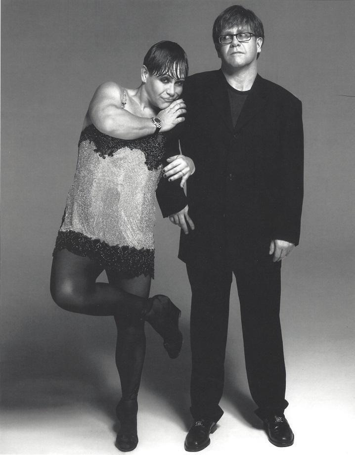 Elton John Versace Publication Photo