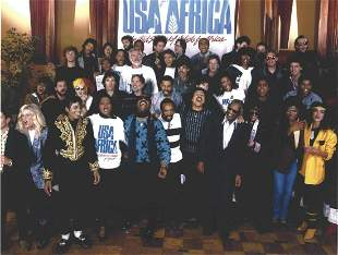 USA For Africa All The Singers Harry Benson Photo