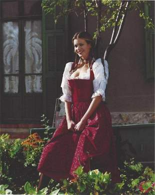 Claudia Schiffer Helmut Newton Publication Photo