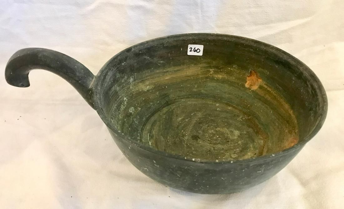 Chinese Bronze Cooking Vessel with Handle