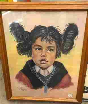 Pastel Native American Girl Sgd P Young