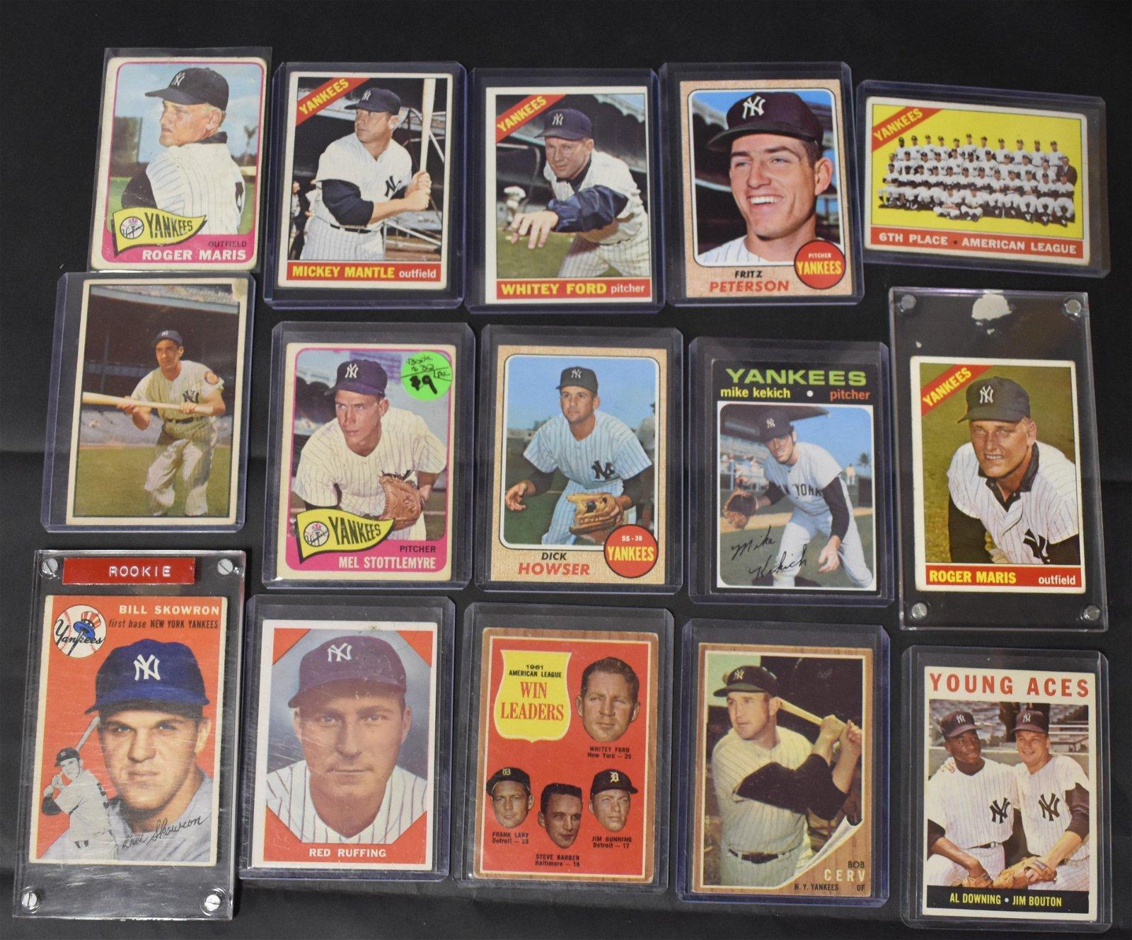 New York Yankee Baseball Trading Cards (15)