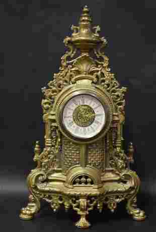 Ornate Brass Shelf Clock