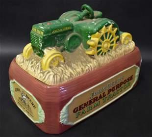 John Deere Farm Tractor Adv Cookie Jar