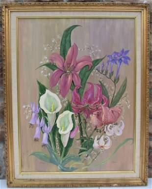 JoanneOil on Canvas Flowers