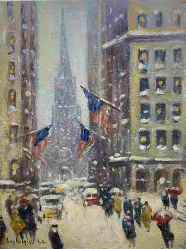Guy Wiggins; 20thC. American Oil - Old Trinity Signed