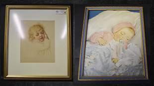 Bessie Pease Gutmann Type Baby Print