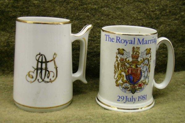 1: Limoges Mug and a Wood & Sons Mug