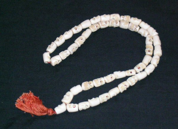 18: Two Necklaces; Jet Bead and Ivory