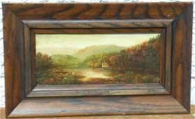 150: Hudson River Oil Signed Louis W. Sonntag