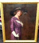 151: Oil Portrait Signed Charles W. Hawthorne