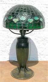 160: Tiffany Acorn Leaded Lamp