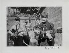 The Beatles First Official  Photo Terry ONeill Signed