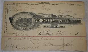 Colt Distributor Receipt 1891