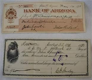 1891 Receipt 1893 Check