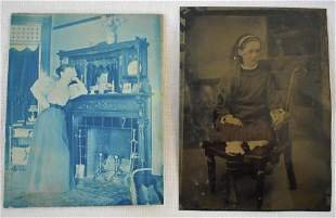Tin Type and a Cyanotype