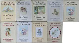 Princess Diana 9 Beatrix Potter Signed Books