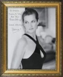 Princess Diana Signed & Framed Photo To Irene