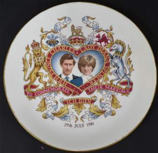 Princess Diana Prince Charles Plate