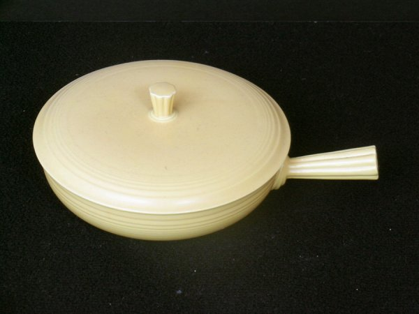 213: FIESTA WARE COVERED FRENCH CASSEROLE