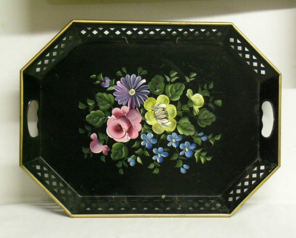 310: HAND PAINTED TOLEWARE TRAY