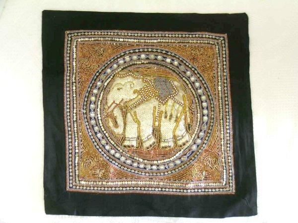318: THREE INDIAN ELEPHANT HANGINGS