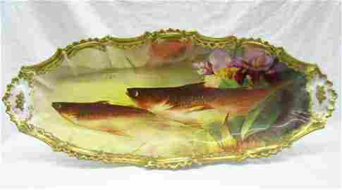 468: LAURELTON HALL LIMOGES FISH SERVICE