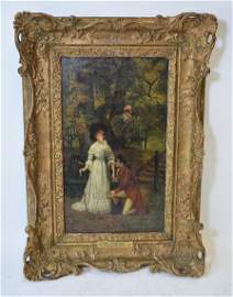 Marcus Stone; 19thC. English Oil - The Proposal Signed