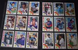Lot of 1984 Topps All-Stars Baseball Cards (22)