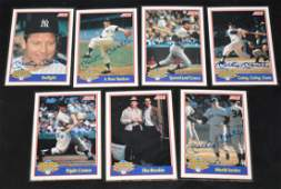 Rare Score Set of Mickey Mantle Autographed Cards (7)