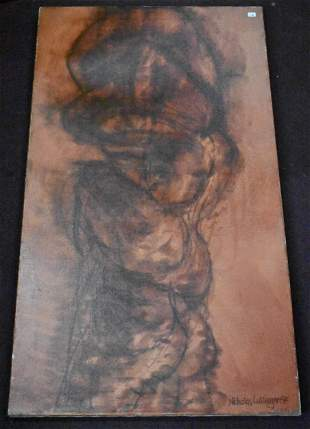 Luttinger Abstract Expressionist Oil Sgd