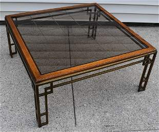 MCM Glass Top Table