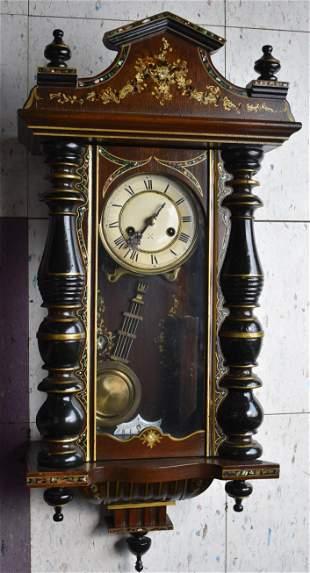 Victorian Marquetried Wall Clock