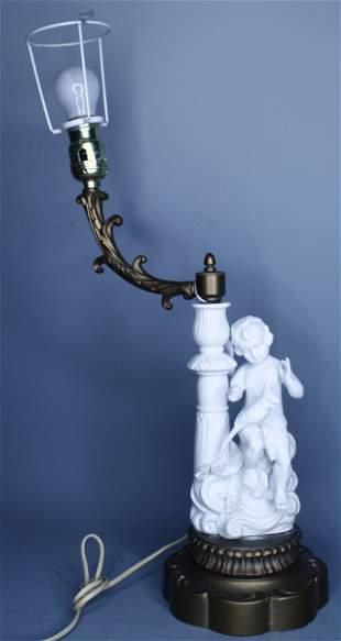 Antique Parian Classical Lamp