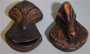 Antique Pr Hemba Passport Masks