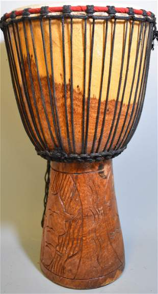 Quality Old 20th C Pigskin Drum