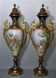 Pr. Sevres French 19th C. Urns