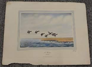 J D Knap Huge Folio Aquatint