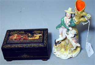 1835 Staffordshire Group Russian Box