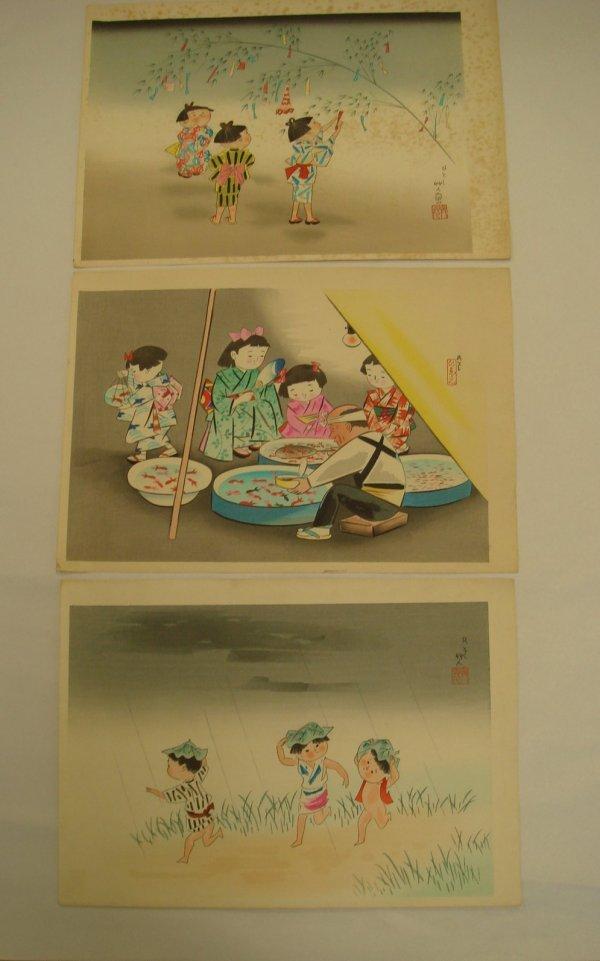 701: Three(3) Japanese Woodblock Prints