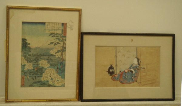 710A: Two(2) Japanese Woodblock Prints
