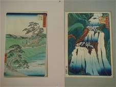 806: Hiroshige;Two(2) Japanese Woodblock Prints