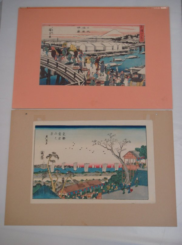 835: Two(2) Japanese Woodblock Prints