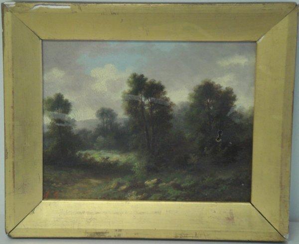 17: American School oil on canvas
