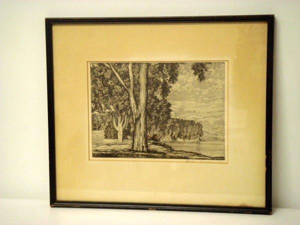 19: Luigi Lucioni; etching